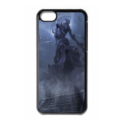 C3K46 diablo reaper d'art âmes du ventilateur F3F5RC cas d'coque iPhone de téléphone cellulaire 5c couvercle coque noire DJ5XGP8RY