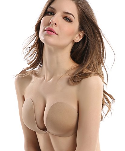 b3e29f49d9 Deceny CB Strapless Bra Push up Invisible Bra Self Adhesive Silicone Bra (D
