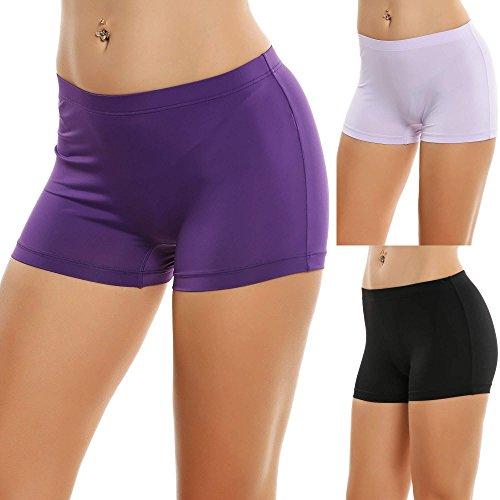 Soft Hipster Brief - Zouvo Seamless Underwear Women Boyshort Hipster Invisible Panties Briefs 3 Pack(Purple,Medium)