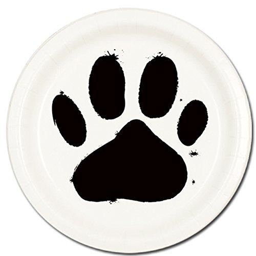 DOG PAW DESSERT PLATE(8/PKG)