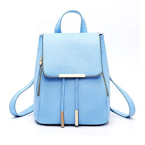 Beige sintético Bolsa de Mochila Ocio 2018 para Cuero Viaje la claro Mujer de azul Compra Estudiantes de KJH21 Mochila Moda para para IHvqSwx