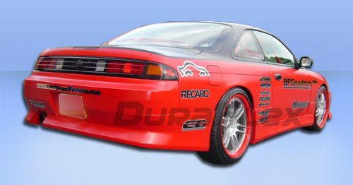 Duraflex Replacement for 1995-1998 Nissan 240SX S14 V-Speed Rear Bumper Cover - 1 Piece