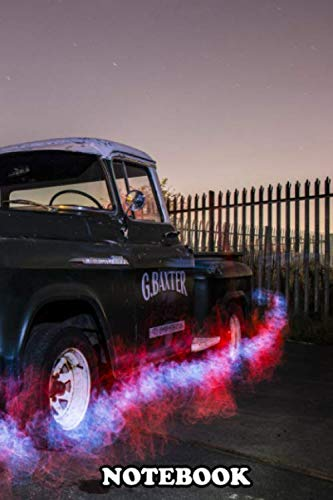 """Notebook: Pick Up Truck With A Spot Of Light Painting , Journal for Writing, College Ruled Size 6"""" x 9"""", 110 Pages"""
