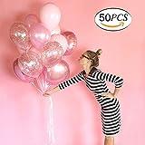 """JATO Luftballon 12"""" Latex-Ballon für Geburtstagsfeiern Hochzeit Festival Celebrations Dekorationen mit 1 Ballonpumpe Kugelf?rmige (Rose)"""
