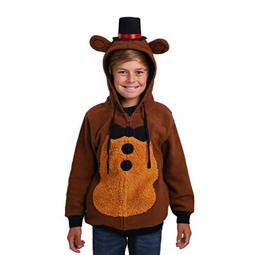 Five Night at Freddy's Youth Freddy Fazbear Costume Hoodie (Medium)
