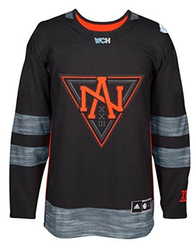 North America World Cup of Hockey 2016 Black Adidas Men's Premier Jersey (4X-Large)
