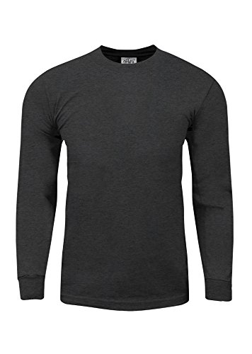 Shaka Wear MHL21_2X Max Heavy Weight Cotton Long Sleeve T-Shirt Charcoal Grey 2X