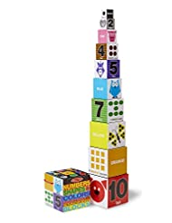 Melissa & Doug Nesting and Stacking Blocks: Numbers, Shapes, ...