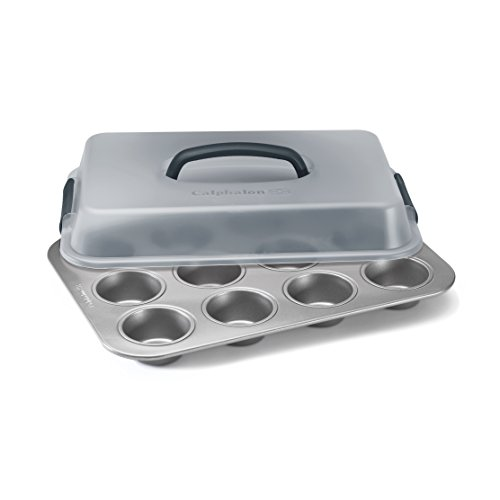 Calphalon Nonstick Bakeware 12-Cup Covered Cupcake Pan, 9 inch x 13 inch