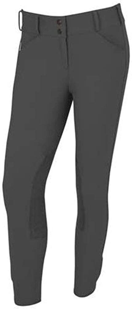 Tailored Sportsman Ladies Trophy Hunter Low Rise Front Zip Breech Charcoal 24R
