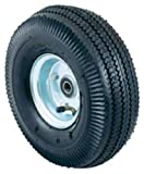 Harper Trucks Pneumatic Hand Truck Wheel with Ball Bearings and Steel Hub, 10'' Diameter x 3-1/2'' Wide