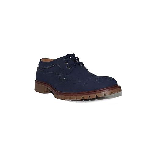 PEZATTI - Zapato Dany 16216 Zapatos Mocasines Hombre Azules Modernos Cómodos Moda: Amazon.es: Zapatos y complementos
