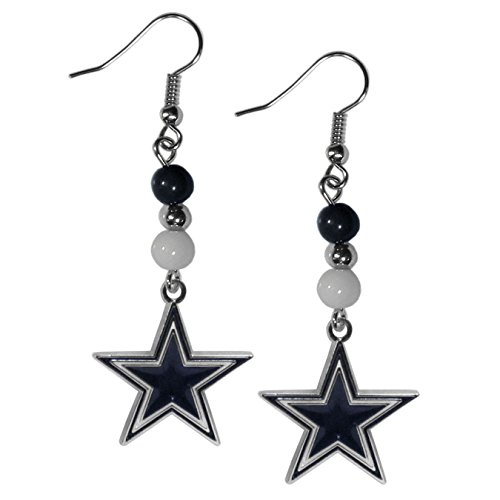 Nfl Gear Women - NFL Dallas Cowboys Fan Bead Dangle Earrings