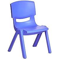 "Amazonbasics 10"" Plastic Stack Chair, Blue, 6-Pack"
