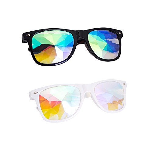 OMG_Shop Kaleidoscope Rainbow Glasses Prism Refraction Goggles for Festivals