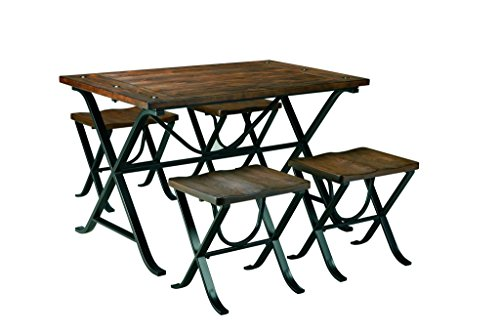Brown Dining Set (Signature Design by Ashley D311-225 Freimore Collection Dining Room Table and Stools, Set of 5, Medium)