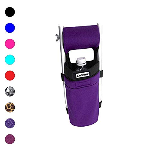 Crutcheze Sport Purple Crutch Bag, Pouch, Pocket Designer Fashion Accessories for Underarm Crutches Made in USA