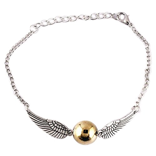 Harry Potter Golden Silver Snitch Quidditch Bracelet - Silver (Harry Potter Quidditch Uniform)