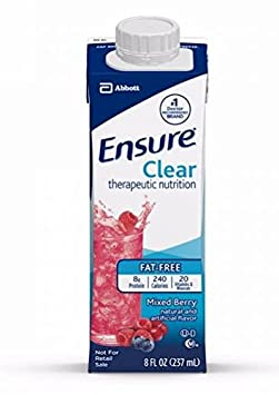 Ensure Clear 24 X 8oz Case, New Reclosable Container Mixed Berry