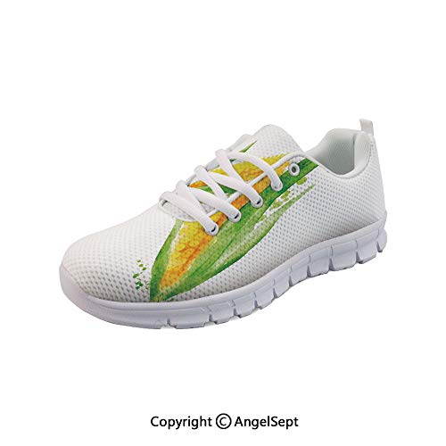 - Athletic Running Shoes with Paint Splashes Fresh Harvest Lightweight Sneakers