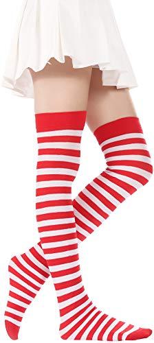 c93da9d5d4f Over Knee Long Striped Stockings Saint Patrick s Day Socks Costume Thigh  High Tights