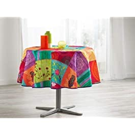 TableCloth Provence Nappe Anti Taches 100% Polyester Ref 94757 André Format Ronde, Dimension 160
