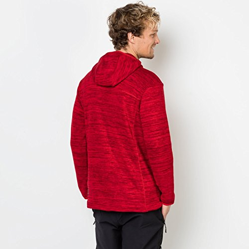 Red Mens Jacket Aquila Knitted Fleece Everyday Jack Ruby Hooded Wolfskin Marl f5wqqvP