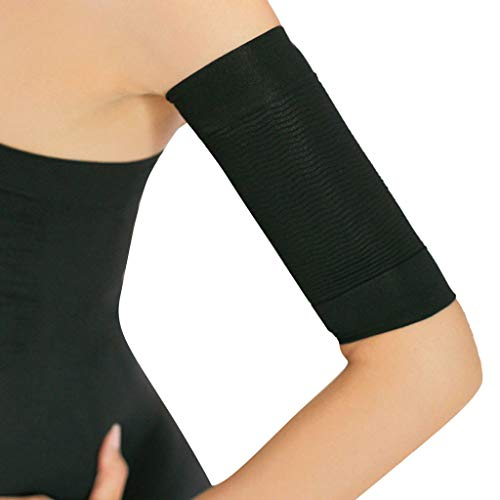2pc Calories off Slim Arm Shaping Shaper Massaging Fat Lose Buster Trimmer Belt (Black)