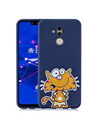Amocase Rubber Case with 2 in 1 Stylus for Huawei Mate 20 Lite,Cute Candy Color High Quality Shockproof Anti-Scratch Slim Fit Flexible Soft TPU Gel Silicone Back Case - Adorable Kitten