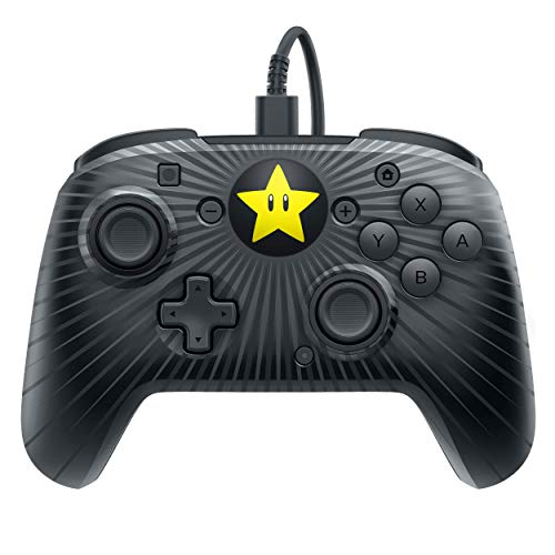 - PDP Nintendo Switch Faceoff Super Mario Star Wired Pro Controller