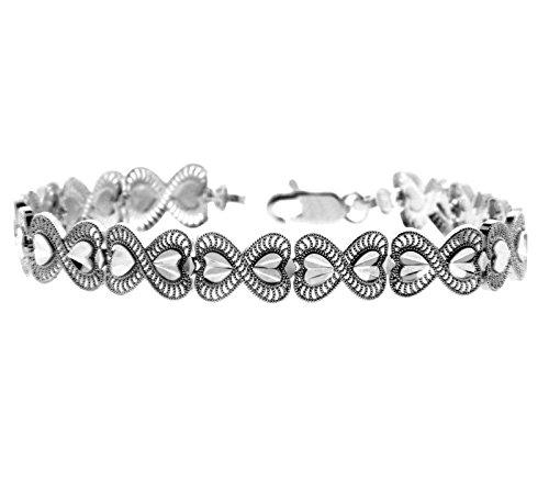 Petits Merveilles D'amour - 14 ct Or Blanc Bracelet - Victoria Bracelet