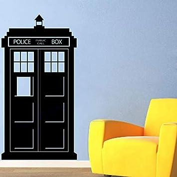 Adhesivo de Pared Doctor Who Tardis - Vinilo Infantil de Pared Police Box72 * 38cm: Amazon.es: Hogar