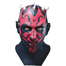 Rubies Costume Star Wars Darth Maul Adult Latex Mask, Black, One Size