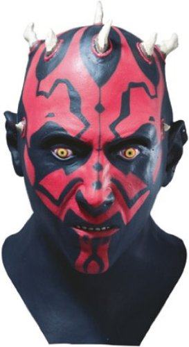 Star Wars Darth Maul Adult Latex Mask,Black,One (Star Wars Halloween Masks)