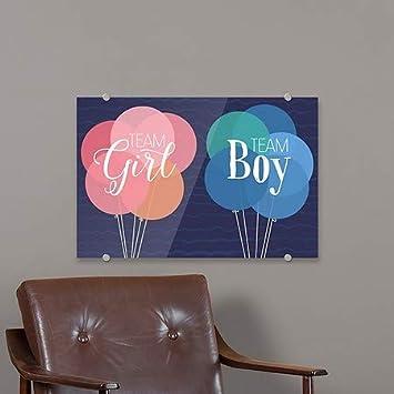   18x12 CGSignLab Inner CircleGender Reveal -Balloons -Square Premium Brushed Aluminum Sign 5-Pack