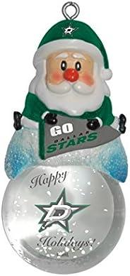 NHL Unisex NHL Santa Snow Globe Ornament