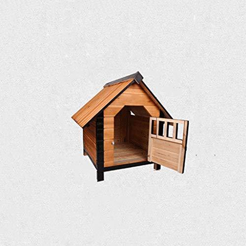 Lijin pet house Perro de criadero de Madera Mediana casa de Perro de Madera Maciza pequeño Perro de casa Grande de tamaño Mediano Chalet de Madera ...