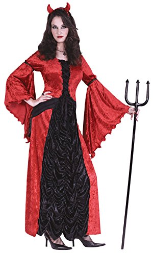 [Funworld Womens Horror Halloween Devil Princess Theme Party Fancy Costume, Small/Medium (2-8)] (Cheap Ladies Devil Costume)