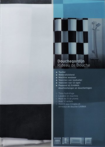 New Extra Long Shower Curtain 72 X 78 Inch Gamma Checkered Flag Black And White Fabric