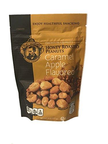 Gourmet Honey Roasted Peanuts! 8oz Per Bag! Pumpkin Spice or Caramel Apple Flavored Flavors to Choose From! Delicious! (Caramel Apple Flavored)