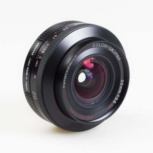 Voigtlander Color Skopar 20mm f/3.5 SL-II Aspherical Manual Focus Lens for Canon EOS Film & Digital Cameras