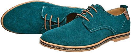 Un Autre Été Hommes Chaussures De Loisirs En Cuir Daffaires Vert