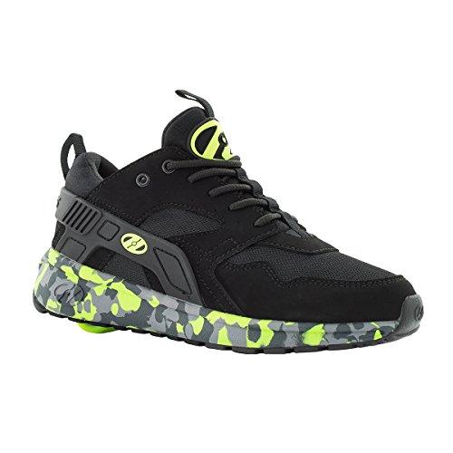 Wheel Heelys (Heelys HE100095H Kid's Force Sneakers, Black/Brightyellow/Confet - 2)