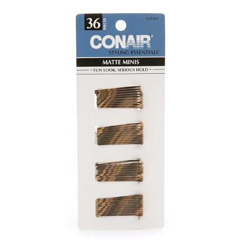 Conair Styling Essentials Mini Pins, Brown 36Ct. (Pack Of 3) by Conair