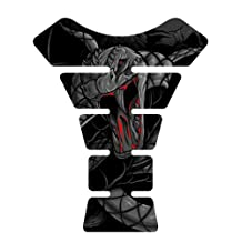 Venom Snake Black Suzuki GSXR Yamaha YZF Honda CBR Kawasaki Ninja Triumph Motorcycle sportbike Tank Pad Protector guard gel decal