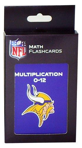 NFL Minnesota Vikings Multiplication Flash Cards