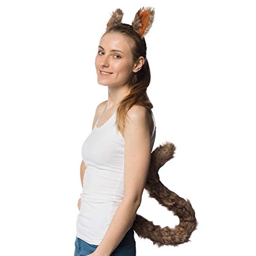 Squirrel Costume Tail (Novelty Nation Squirrel Ears Headband and Extra Long Tail - Costume)