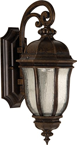 Craftmade Z3304-112 Wall Lantern with Seeded Glass Shades, Bronze Finish