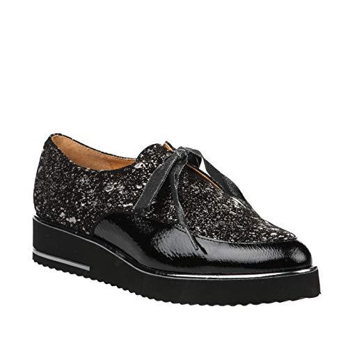 Chaussures HDC Verni Noir à Lacets Femme Noir drxqrgRn