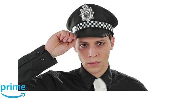 Foxxeo Gorra de policía Cap. de policía Traje de policía, Tamaño ...